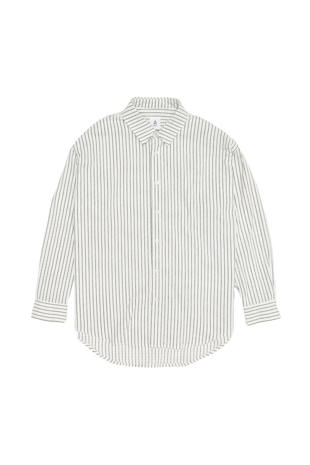 REMY OVERSIZED STRIPED SHIRT IN WHITE