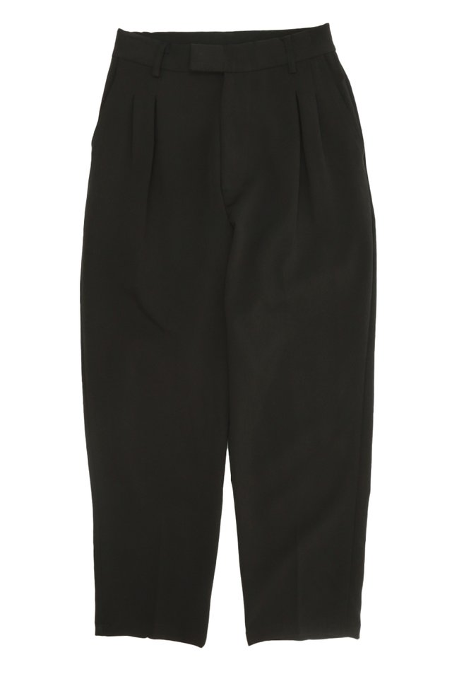 WALLY TAPERED-FIT DART TROUSERS IN BLACK