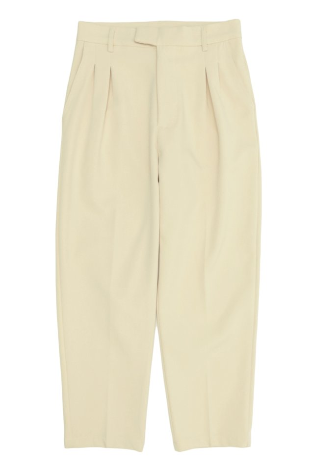 WALLY TAPERED-FIT DART TROUSERS IN CREAM