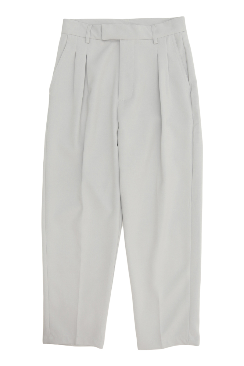 WALLY TAPERED-FIT DART TROUSERS IN FROST GREY