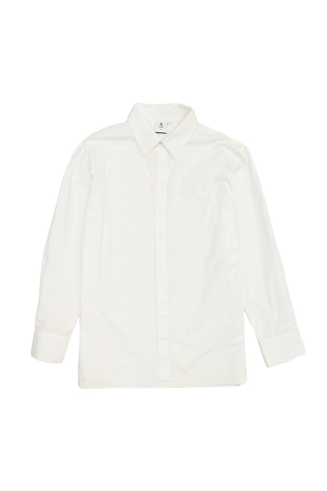ALEC OVERSIZED SMART SHIRT IN WHITE