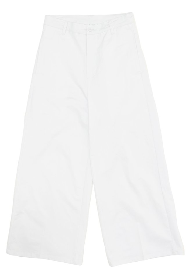 HOLSTON WIDE-FIT TWILL TROUSERS IN WHITE
