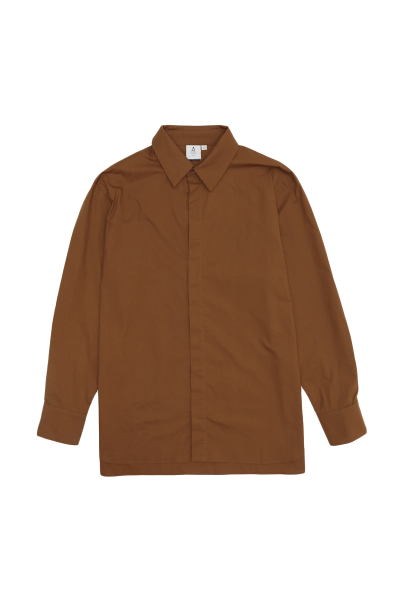 ALEC OVERSIZED SMART SHIRT IN TOBACCO