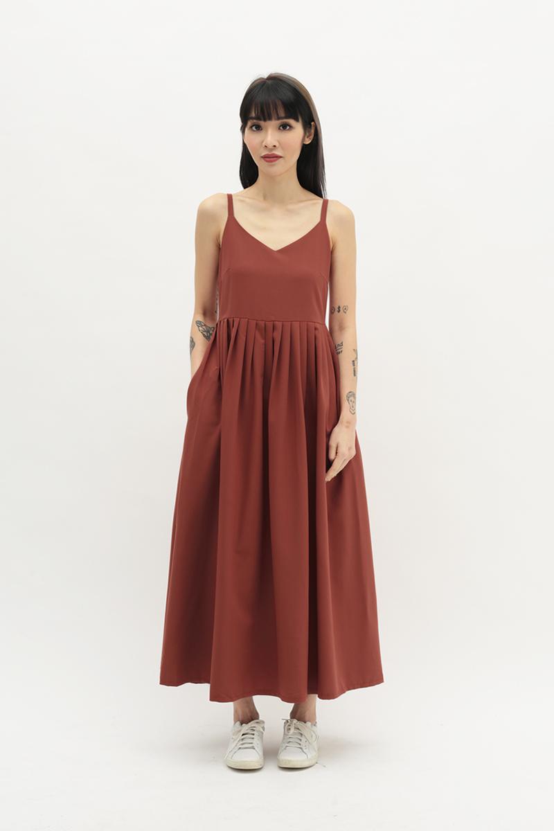 SONYA PLEATED DRESS IN AUTUMN