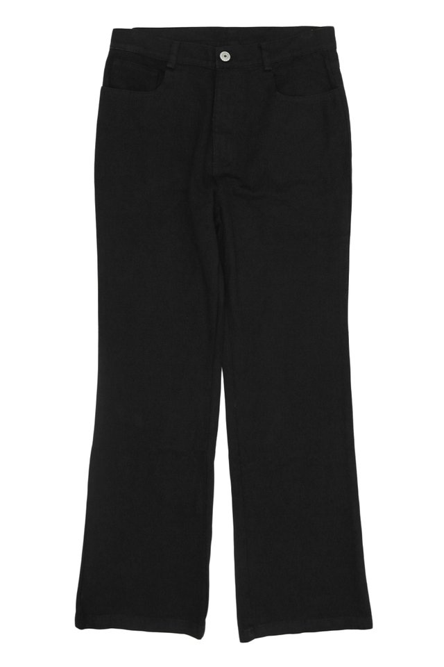 COOPER FLARED TWILL TROUSERS IN BLACK