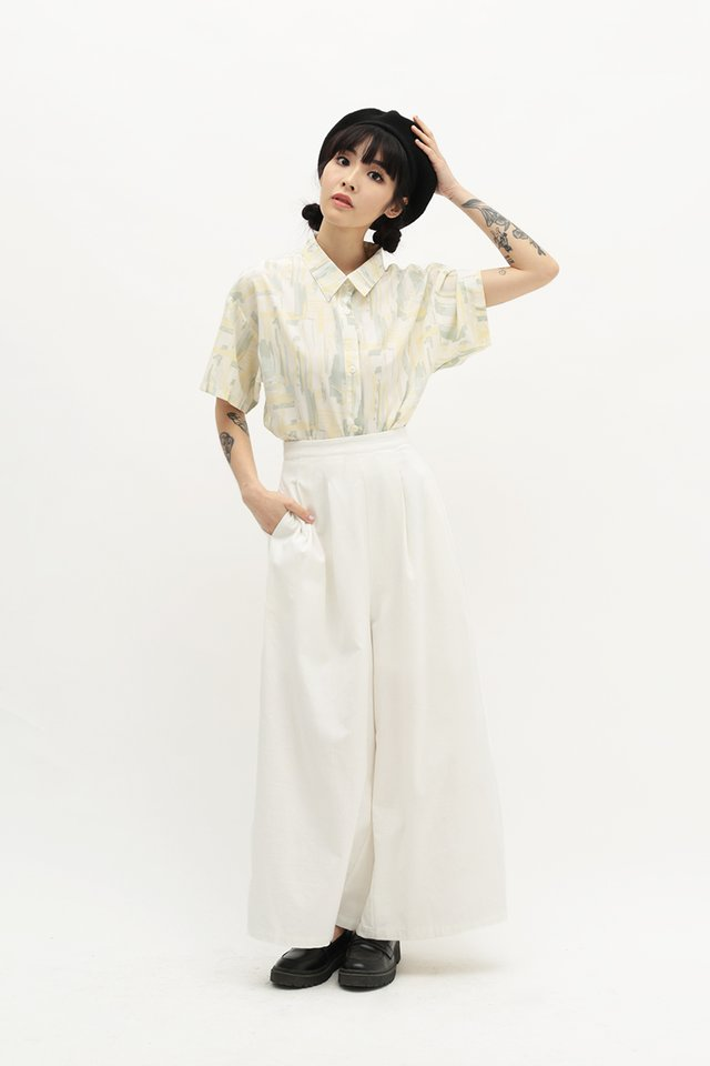 SAOIRSE WIDE LEG PANTS IN WHITE