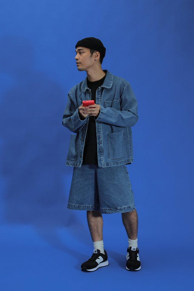MICAH WIDE-FIT DENIM SHORTS IN MID WASH